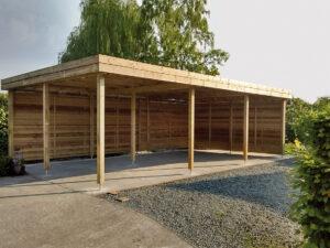 carport geïmpregneerd hout